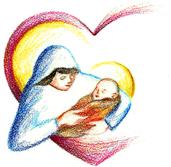 Mary n child transparent